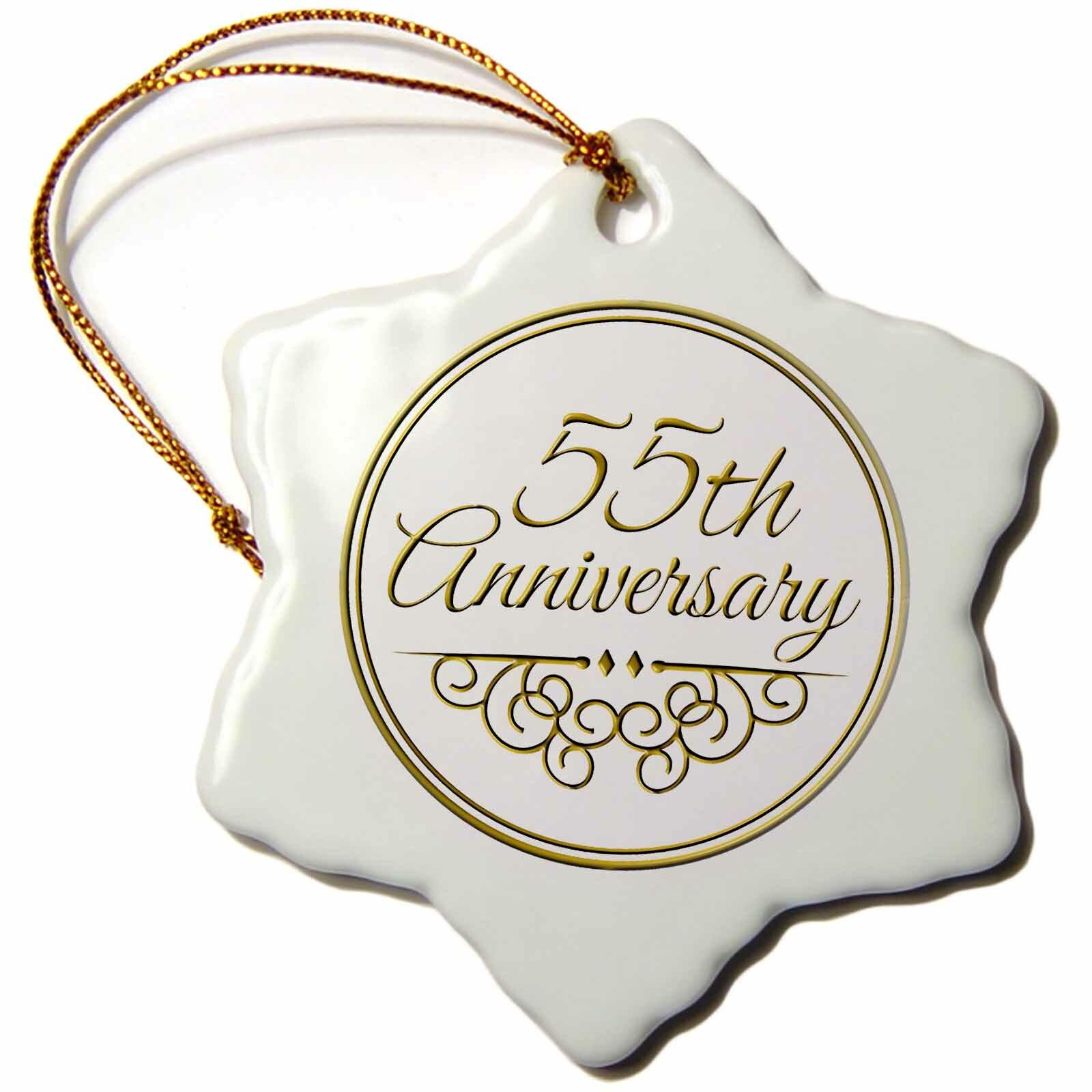 The Holiday Aisle 55th Anniversary Gift Snowflake Holiday Shaped Ornament Wayfair