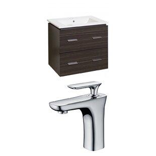 Kyra 24 Rectangle Wood Single Bathroom Vanity Set with 2 Drawers by Orren Ellis