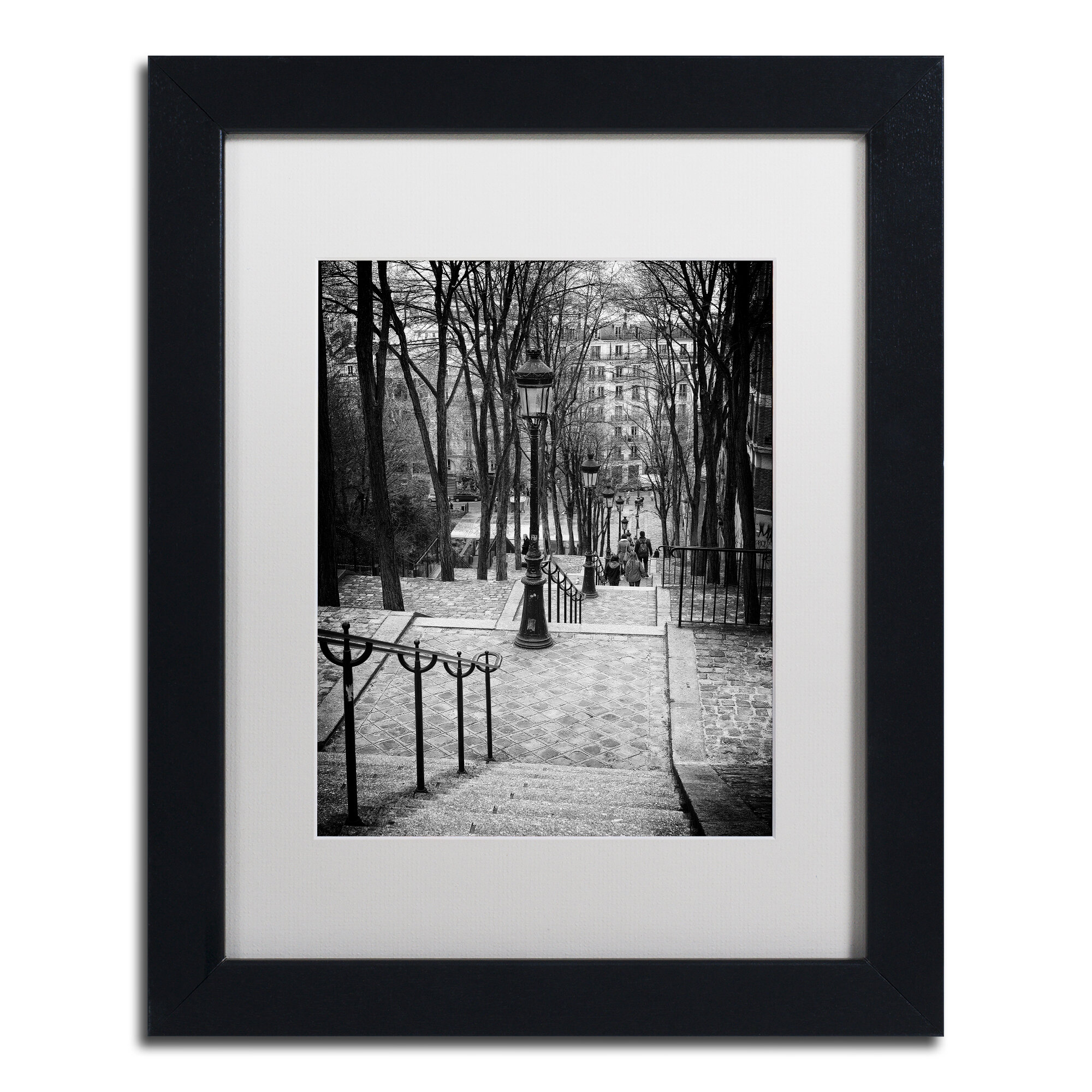 Trademark Art Staircase Montmartre By Philippe Hugonnard Framed Photographic Print Wayfair