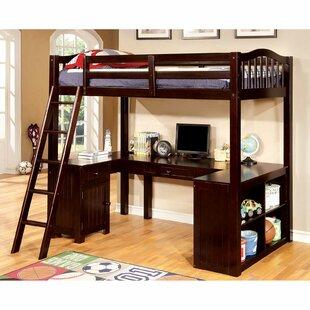 Elmhur Workstation Twin Loft Bed by Harriet Bee