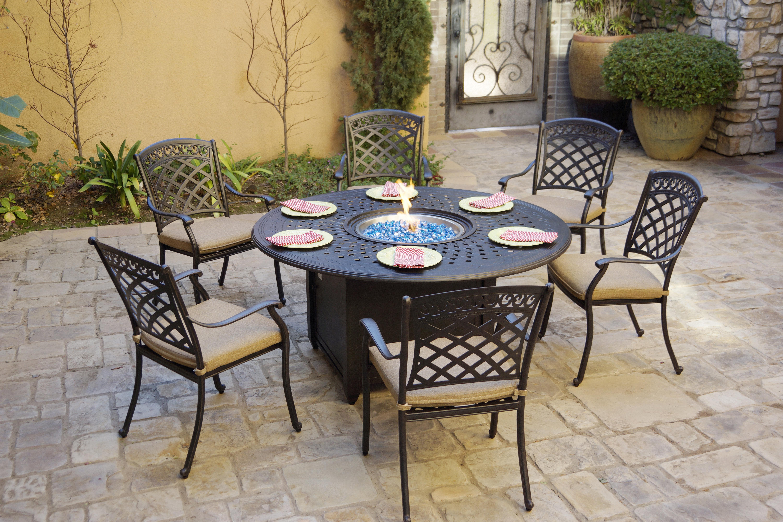 Fleur De Lis Living Galion 7 Piece Dining Set With Cushions Wayfair
