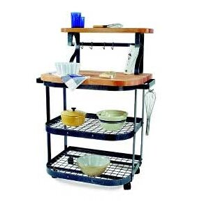 Premier Kitchen Cart with Butcher Block T..