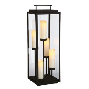Cathedral Black Battery Powered LED Outdoor Lantern Electric Candle By Eurofase