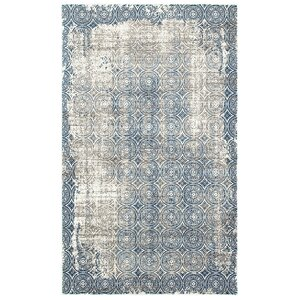 Odie Blue/Cream Area Rug