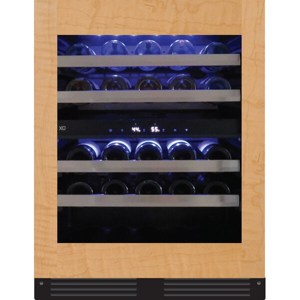 Xo Appliance 33 Bottle Cooler Dual Zone Built In Wine Refrigerator Wayfair