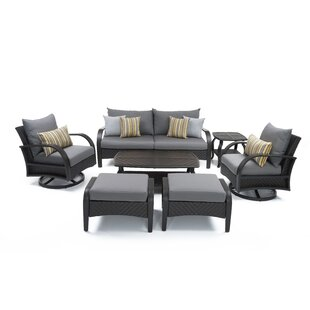 Cerralvo 7 Piece Sunbrella Sofa Set with Cushions by Sol 72 Outdoor
