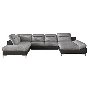 Orren Ellis Laura Sleeper Sectional with Ottoman