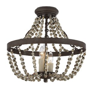 Birch Lane™ 3-Light Convertible Semi-Flush Mount