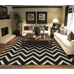 Giunta Wool Black/Ivory Area Rug