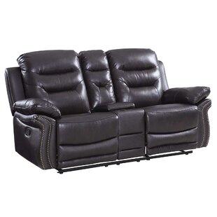 Ullery Upholstered Living Room Reclining Loveseat by Winston Porter