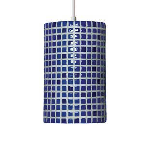 Best Price Mosaic 1-Light Cylinder Pendant By A19
