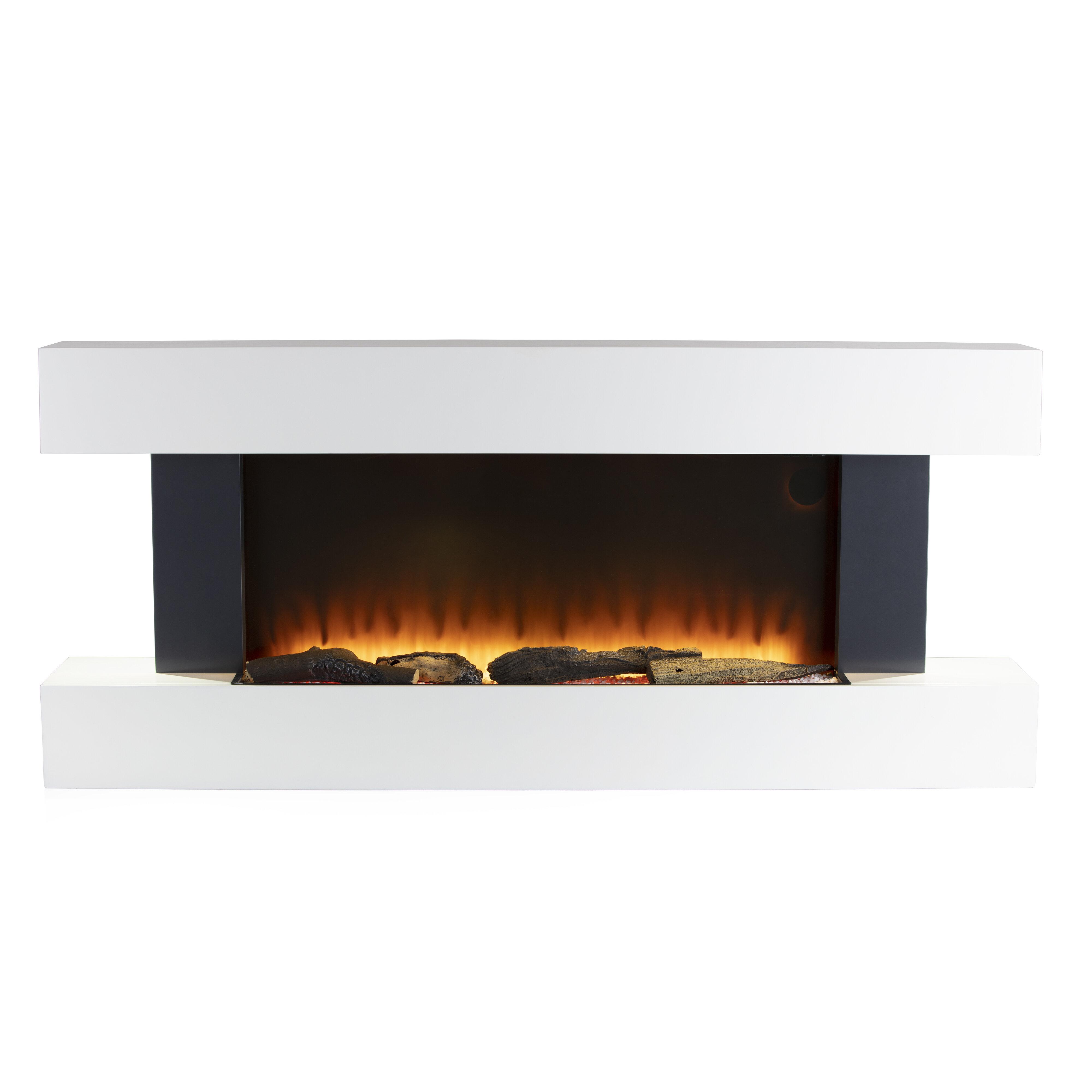 Warmlite Hingham Wall Mounted Fireplace Suite Reviews Wayfair