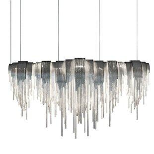 Orren Ellis Ramsell Chain Link 12-Light Crystal Chandelier