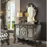 Doline 5 Drawer Combo Dresser with Mirror by Rosdorf Park