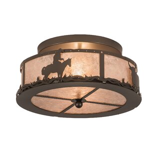 Loon Peak Zermeno 2-Light Semi Flush Mount