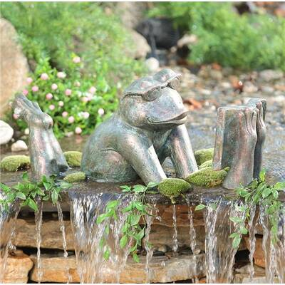 Reading Frog Garden Art