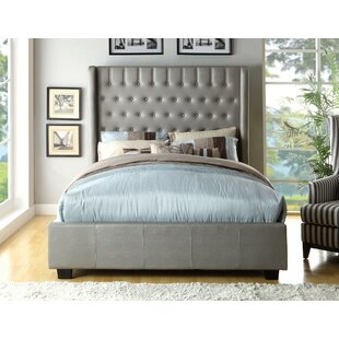 Odelia Wingback Upholstered Panel Bed by Everly Quinn