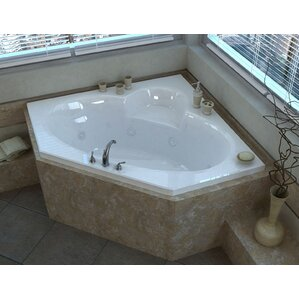 whirlpool bathtub. Curacao 58  x Corner Whirlpool Jetted Bathtub with Center Drain Tubs You ll Love Wayfair