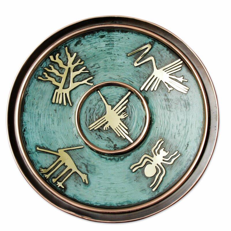 Buchheit Images from Nazca Copper Decorative Plate  sc 1 st  Wayfair & Bloomsbury Market Buchheit Images from Nazca Copper Decorative Plate ...