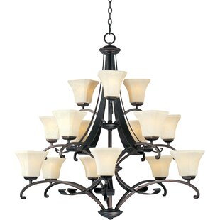 Darby Home Co Cottrell 15-Light Shaded Chandelier