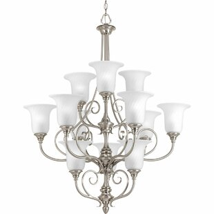 Fleur De Lis Living Terrie 12-Light Shaded Chandelier