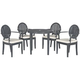 Chilhowee 5 Piece Teak Dining Set with Cushions