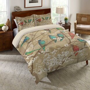Dax Birds and Blossoms Comforter by Red Barrel Studio