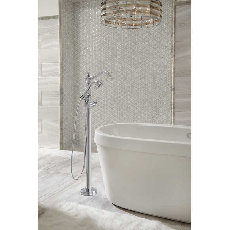 Delta Cassidy Floor Mount Tub Filler & Reviews | Wayfair