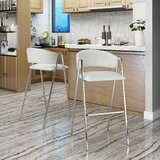 Ansaldi Modern 28 Bar Stool (Set of 2) by Orren Ellis