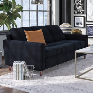 Anglin Raisin Fabric Modern Living Room Sofa