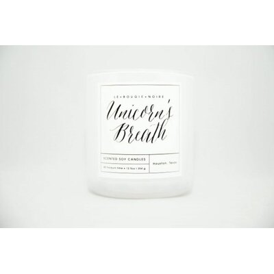 LA BOUGIE NOIRE HOME FRAGRANCES Unicorn's Breath Scented Jar Candle Ounces: 9 oz.
