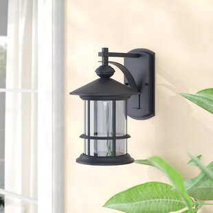 Reviews Shaws 1-Light Outdoor Wall Lantern By Three Posts