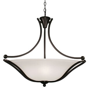 Winston Porter Wayde 3-Light Bowl Pendant