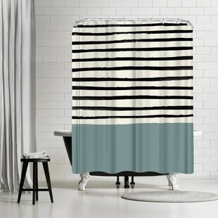 Leah Flores River Stone Single Shower Curtain