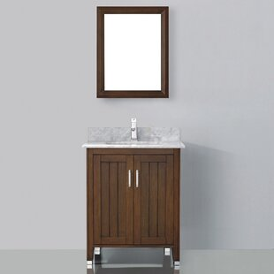 Jacchi 28 Single Bathroom Vanity Set with Mirror by Bauhaus Bath