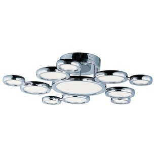 Orren Ellis Ancha 11-Light LED Semi Flush Mount