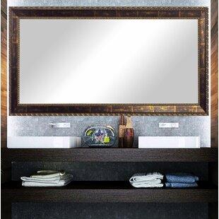 Dostie Traditional Distressed Bathroom  Vanity Mirror