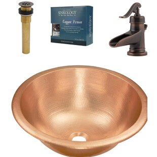 Compare prices Born and Ashfield All-in-One Metal Circular Undermount Bathroom Sink with Faucet By Sinkology