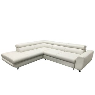 Beldale Leather Sleeper Sectional