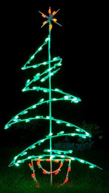 zig zag tree led light christmas decoration