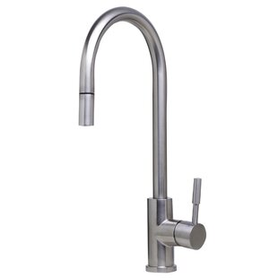 Alfi Brand Single Handle Deck Mount Pull Down Kitchen Faucet
