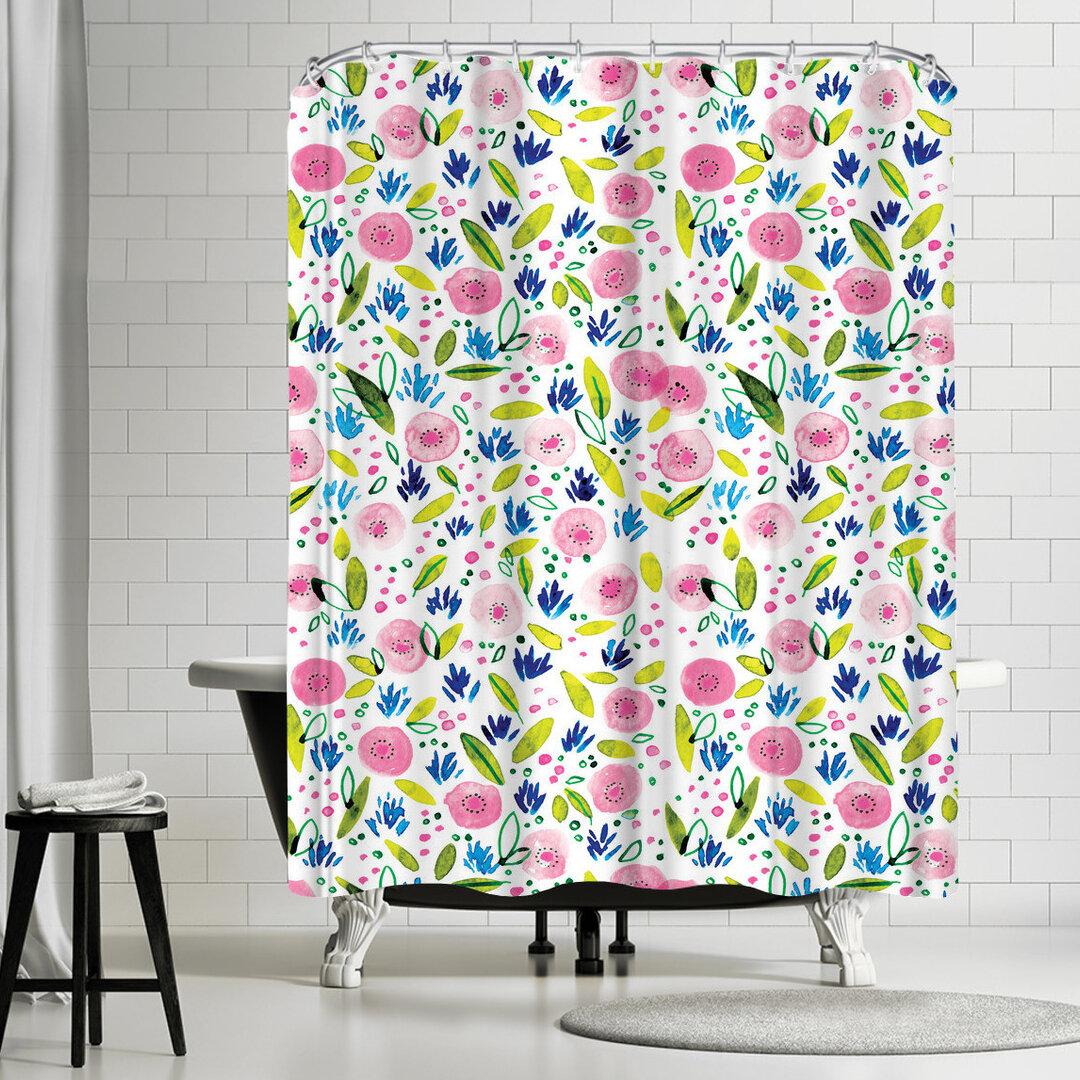 East Urban Home Rebecca Prinn Botanical Single Shower Curtain Wayfair