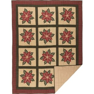 August Grove Peck Single Reversible Khaki Holiday Quilt