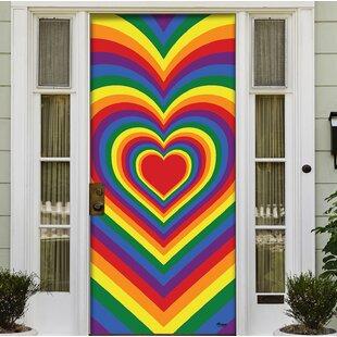 Holiday Front Door Decor Mural