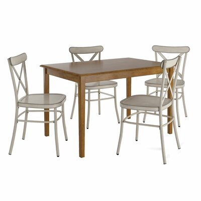 August Grove Alabama 5 Piece Dining Set August Grove Chair Color Antique White Dailymail