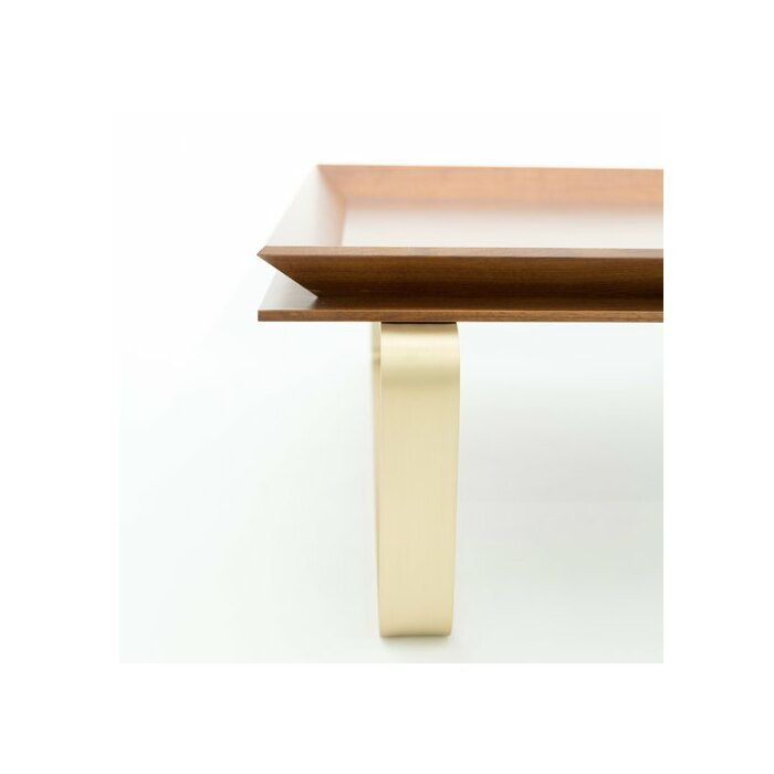 Le Tray Curved Leg Coffee Table With Tray Top