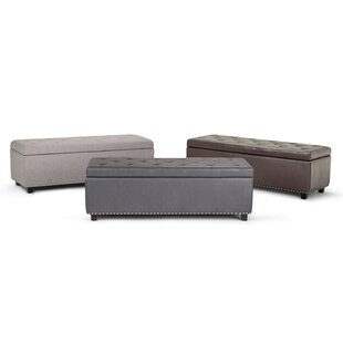 Burrus Leather Tufted Storage Ottoman by Charlton Home