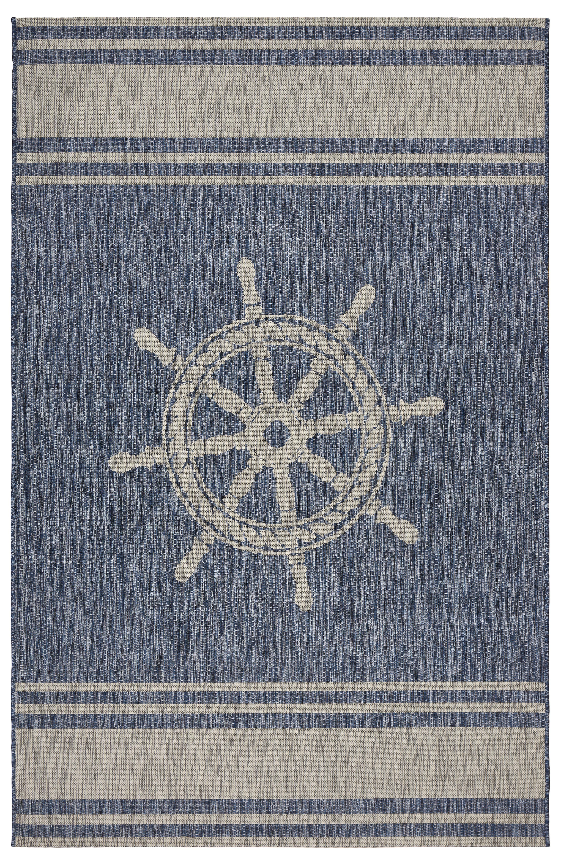 Breakwater Bay Weese Nautical Helm Navy
