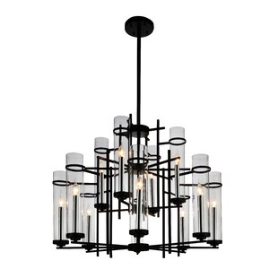 Gracie Oaks Maren 12-Light LED Candle-Style Chandelier