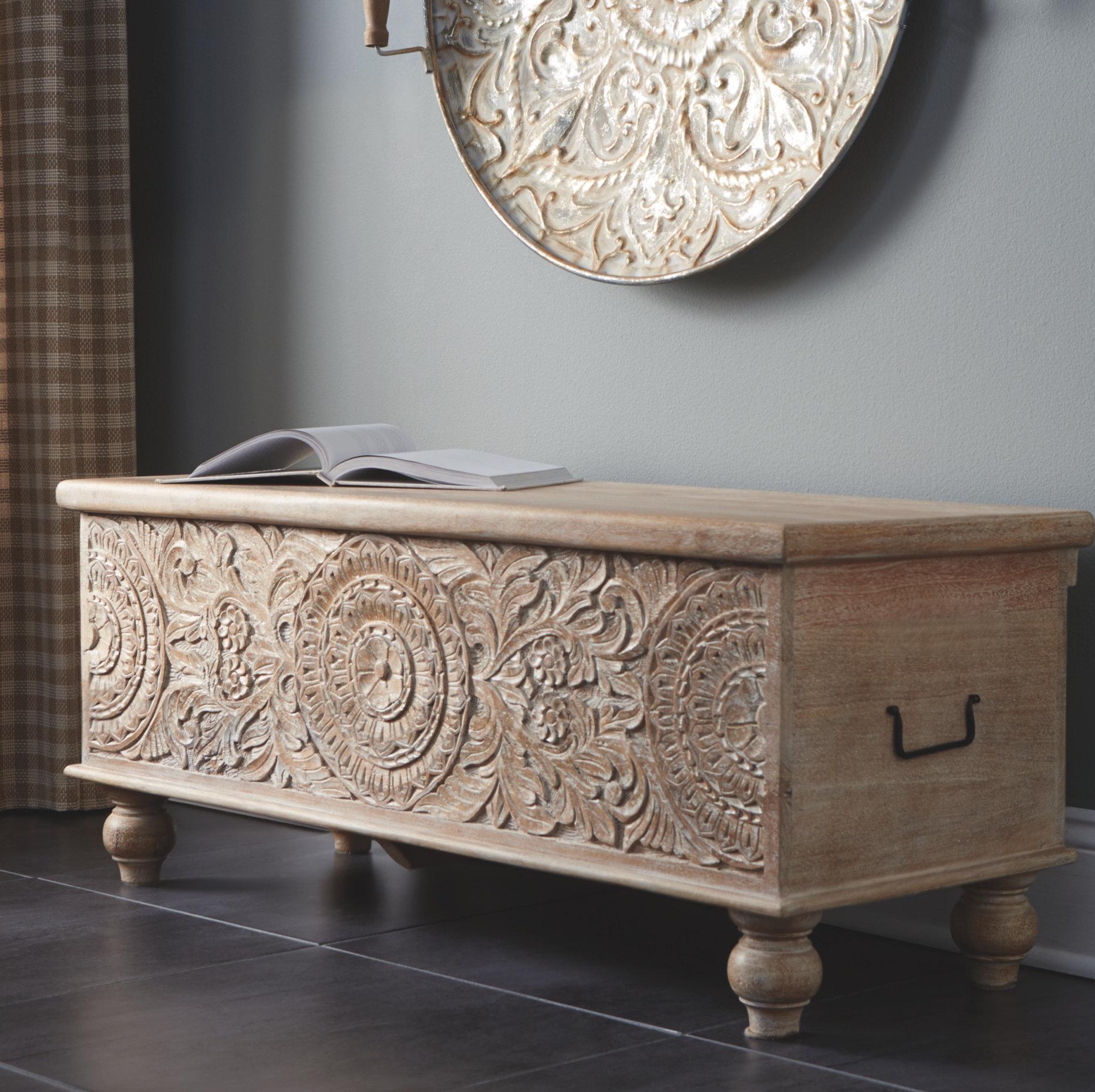 Bungalow Rose Rondelle Wood Flip Top Storage Bench Reviews Wayfair